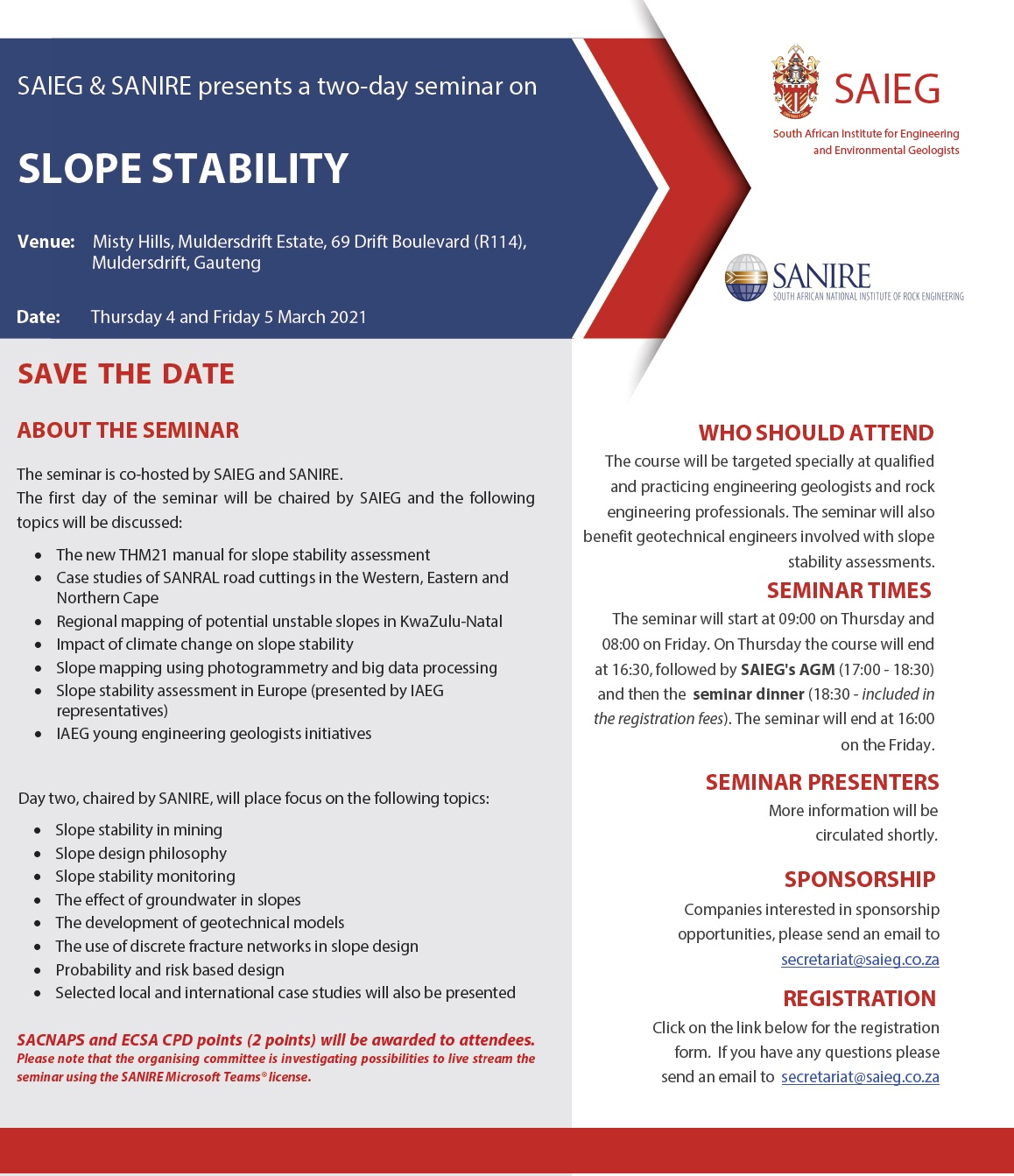 Slope stability 4March2021 Course Announcement